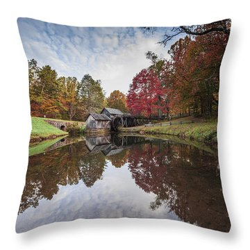 Mabry Mill Throw Pillow by David Cote