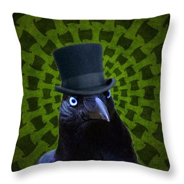 Mad Crow Throw Pillow