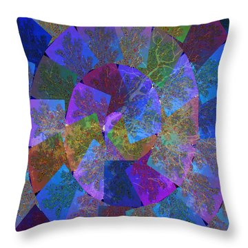 Magic Marbles Marvellous Colorful Pattern Spiral Sparkle Wonderland Kidsroom School Nursary Daycare  Throw Pillow