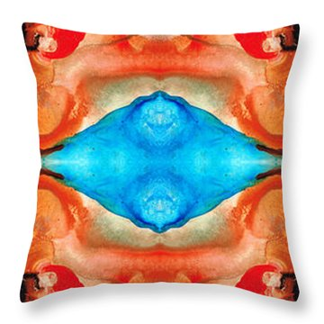 Magic Mirror - Abstract Art By Sharon Cummings Throw Pillow by Sharon Cummings