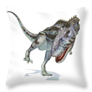 Abelisauridae Throw Pillows