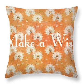 Make A Wish Throw Pillow