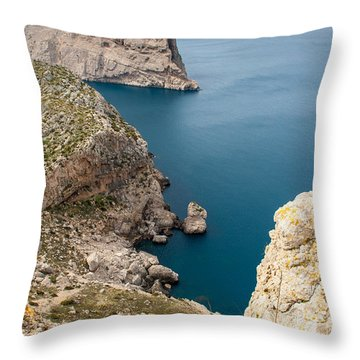 Mallorca View Throw Pillow by Gary Eason
