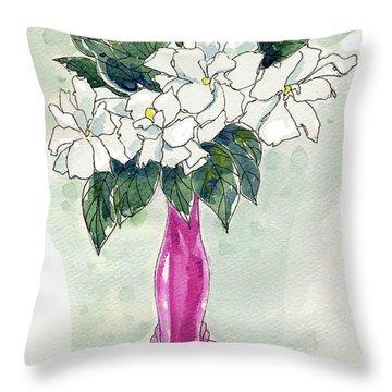 Mama's Vase Throw Pillow