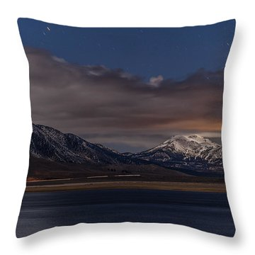 Mammoth At Night Throw Pillow by Cat Connor
