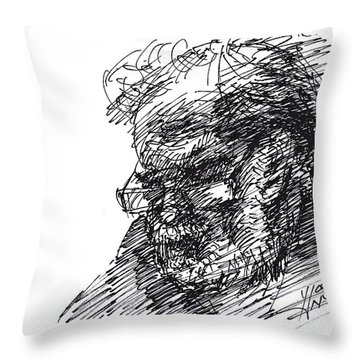 Man In The Corner Throw Pillow