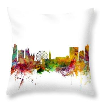 Greater Manchester Throw Pillows