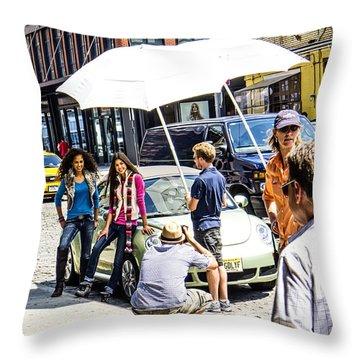 Manhattan Photo Shoot Throw Pillow
