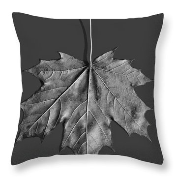Maple Leaf Throw Pillow by Steven Ralser