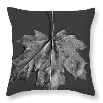 Maple Leaf Throw Pillow by Steven Ralser