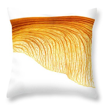 Maple Seed Pod Throw Pillow
