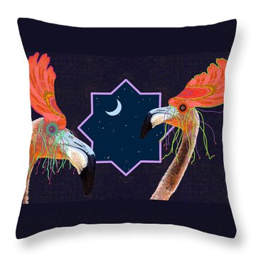 Throw Pillow featuring the photograph Mardi Gras by I'ina Van Lawick