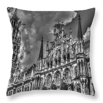 Throw Pillow featuring the photograph Marienplatz In Munich by Joe  Ng