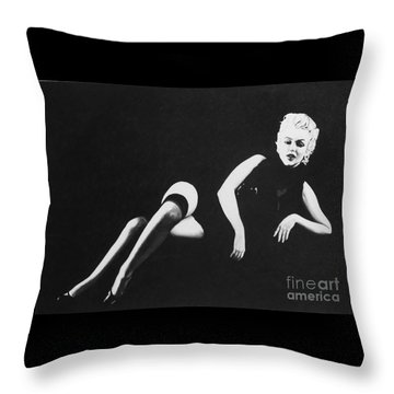 Marilyn Reclining Throw Pillow by Joseph Sonday