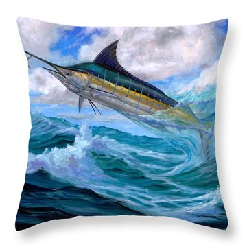Marlin Low-flying Throw Pillow