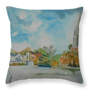 Marlow On Thames Throw Pillow