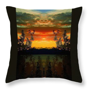Throw Pillow featuring the photograph Marsh Lake - Yukon by Juergen Weiss