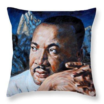 Martin Luther King Throw Pillow by John Lautermilch