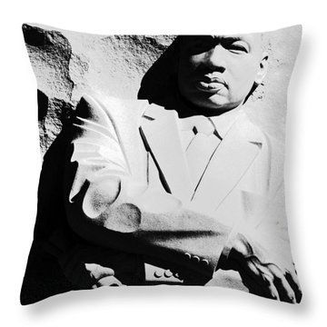 Throw Pillow featuring the photograph Martin Luther King Memorial by Cora Wandel