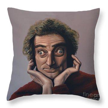 Marty Feldman Throw Pillow by Paul Meijering