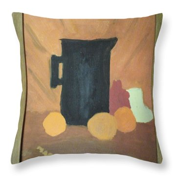 Throw Pillow featuring the painting #1 by Mary Ellen Anderson