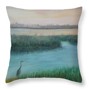 Matanzas River Morning Throw Pillow