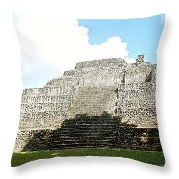 Mayan Temple Chacchobon Mexico Throw Pillow
