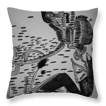 Mbakumba Dance - Zimbabwe Throw Pillow by Gloria Ssali