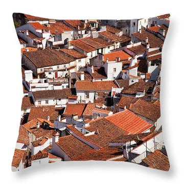 Medieval Town Rooftops Throw Pillow by Jose Elias - Sofia Pereira