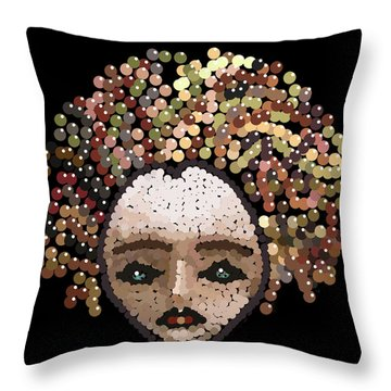 Medusa Bedazzled After Throw Pillow