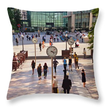 Meet Me By The Clock Throw Pillow