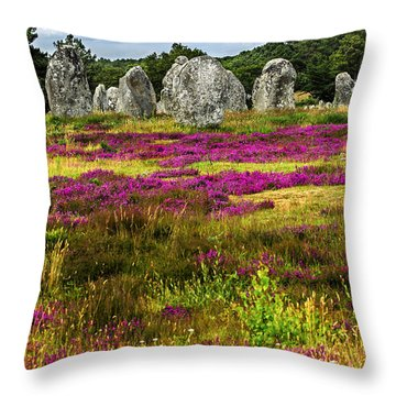 Megalithic Monuments In Brittany Throw Pillow