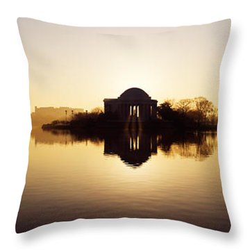 Memorial At The Waterfront, Jefferson Throw Pillow by Panoramic Images