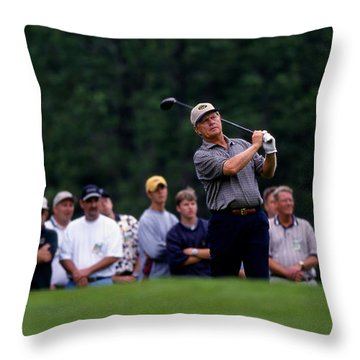 12w334 Jack Nicklaus At The Memorial Tournament Photo Throw Pillow