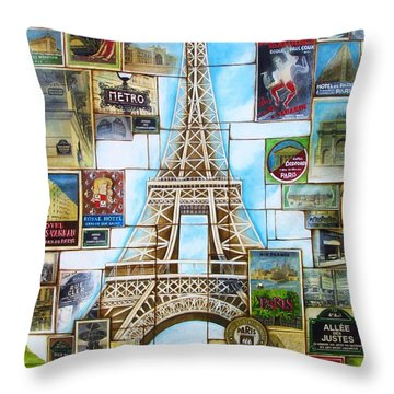 Memories Of Paris Throw Pillow