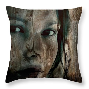 Memory Etched In Wood Throw Pillow