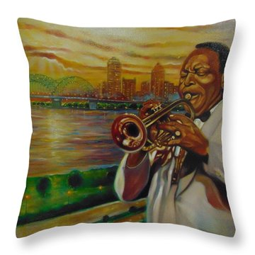 Throw Pillow featuring the painting Memphis by Emery Franklin