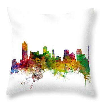 Memphis Tennessee Skyline Throw Pillow