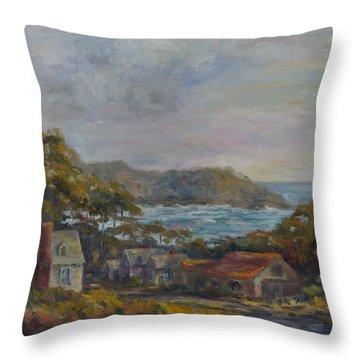 Mendocino Evening Throw Pillow