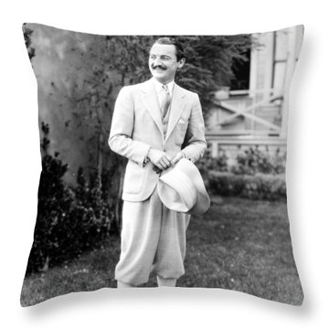 Throw Pillow featuring the photograph Men's Fashion, C1925 by Granger