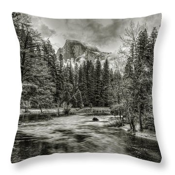 Ascending Clouds Toned Throw Pillow