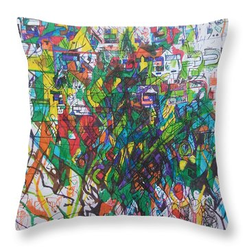 Meriting The Multitudes Throw Pillow by David Baruch Wolk