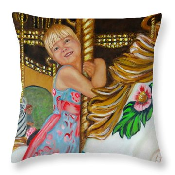 Merry-go-round Throw Pillow