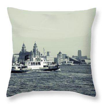 Mersey Ferry Throw Pillow