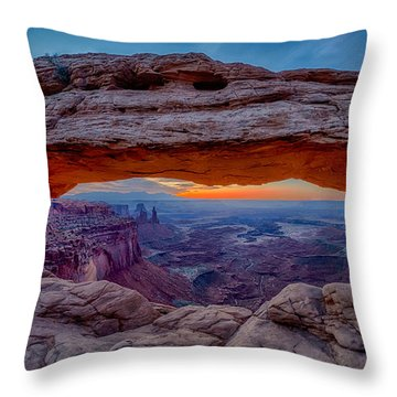 Mesa Arch Morning Throw Pillow