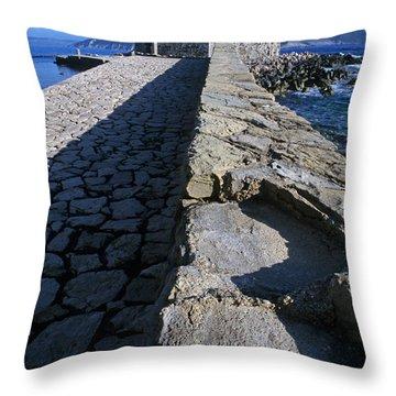 Methoni Castle Throw Pillow
