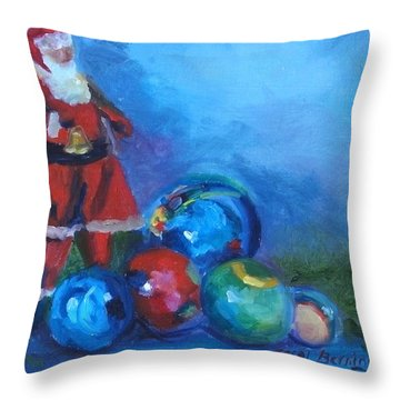 Mexico Santa  Throw Pillow