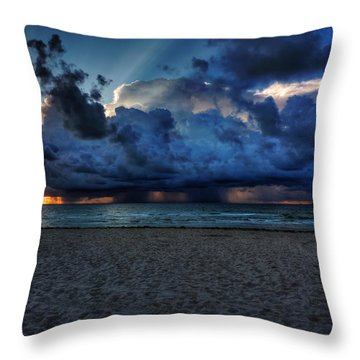 Throw Pillow featuring the photograph Miami - South Beach Morning 002 by Lance Vaughn