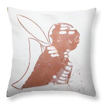 Micah - Tile Throw Pillow by Gloria Ssali