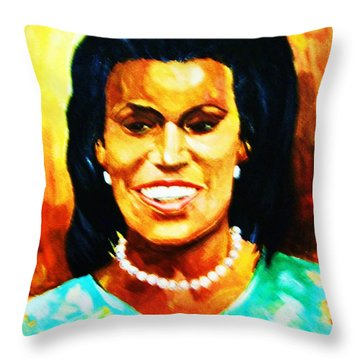 Michelle Obama Throw Pillow by Al Brown